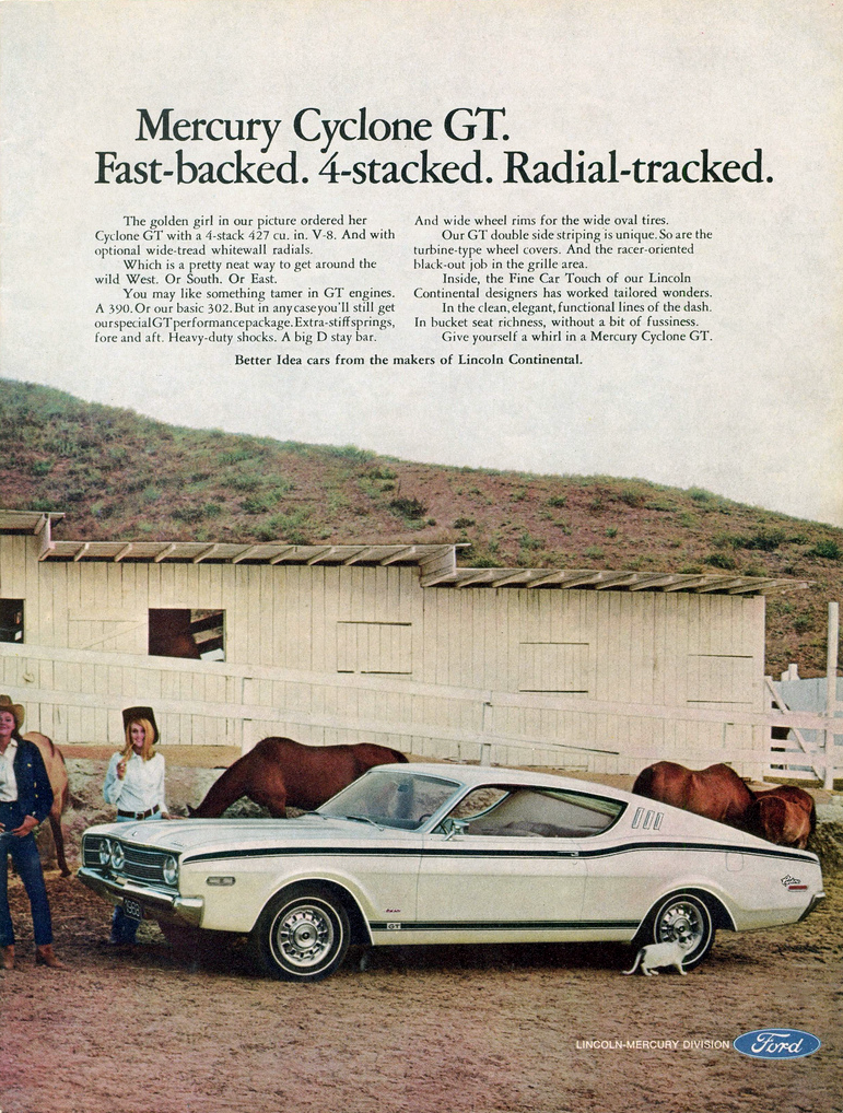 1968 Mercury Cyclone Ad