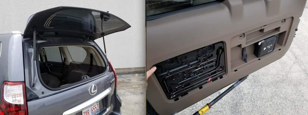 Lexus GX swing-out rear hatch