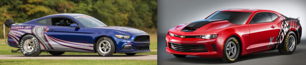Cobra Jet Mustang and COPO Camaro