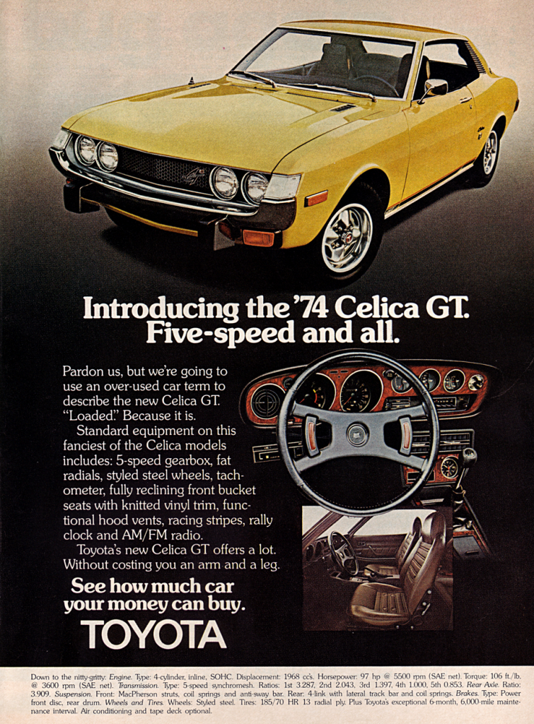 1974 Toyota Celica GT Ad