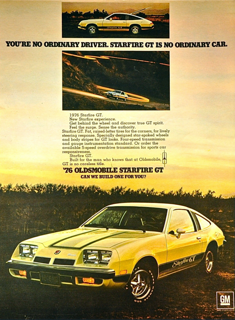 1976 Oldsmobile Starfire GT Ad