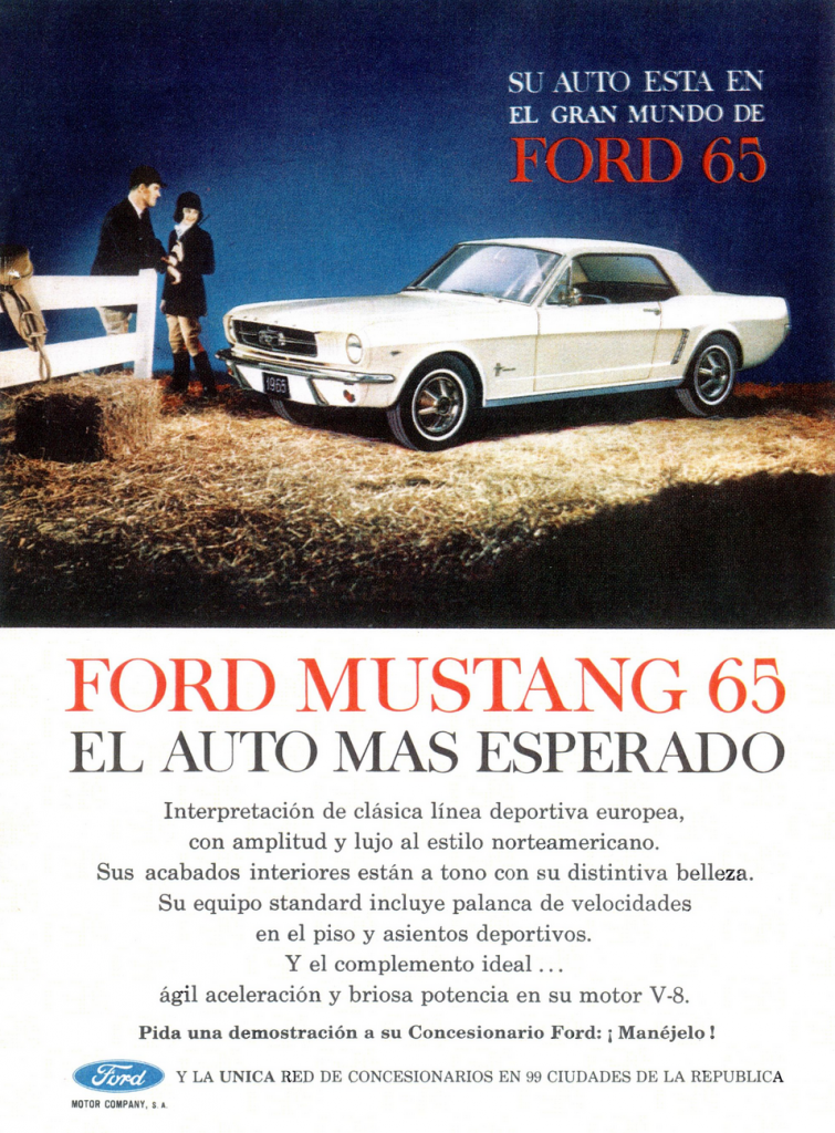 1965 Ford Mustang Ad (Mexico)