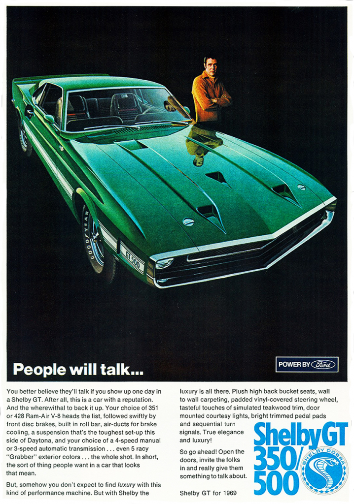 1969 Ford Mustang/Shelby GT Ad