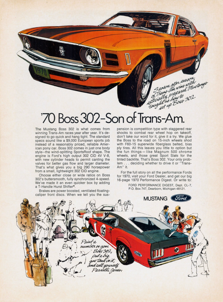 1970 Ford Mustang Ad