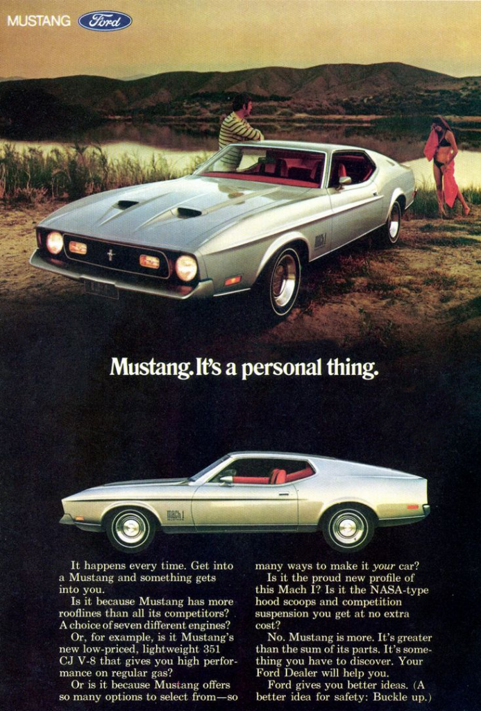 mustang 1971 ford ads ad mach classic pony guide