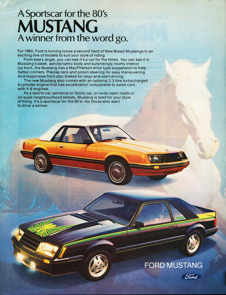 1980 Ford Mustang Ad
