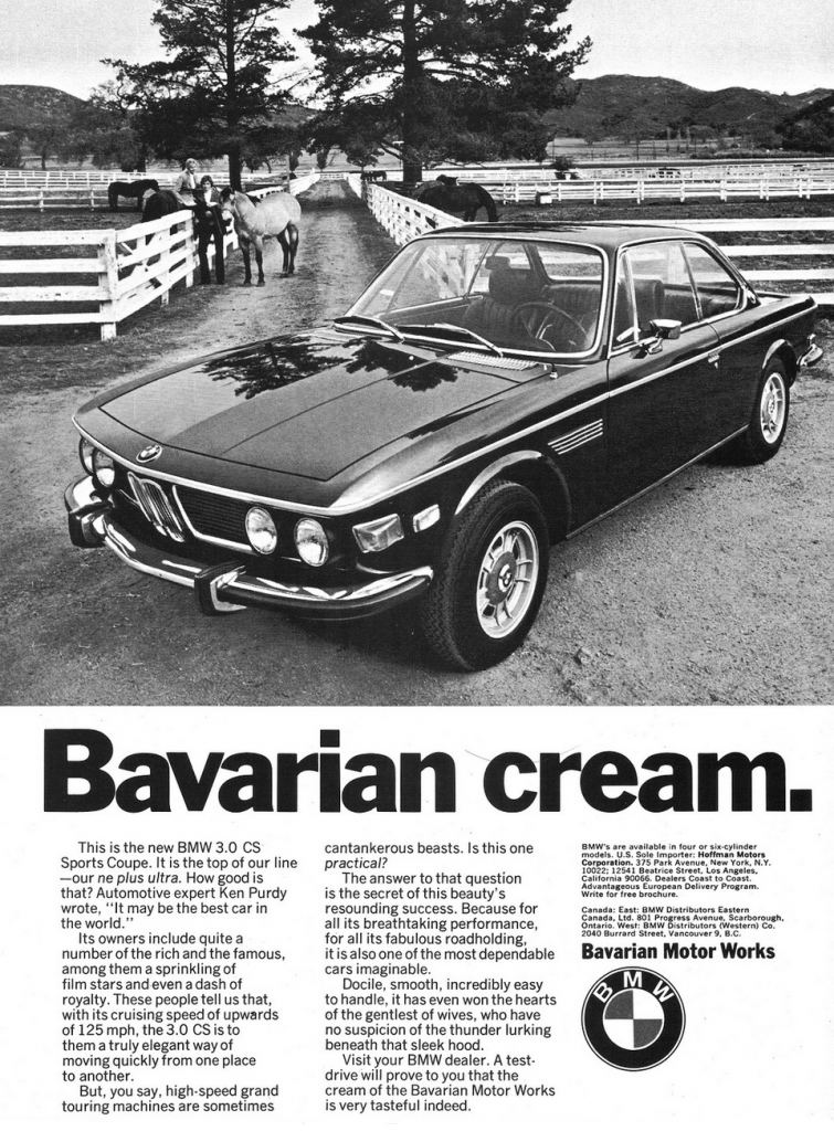 1973 BMW 3.0 CS Ad
