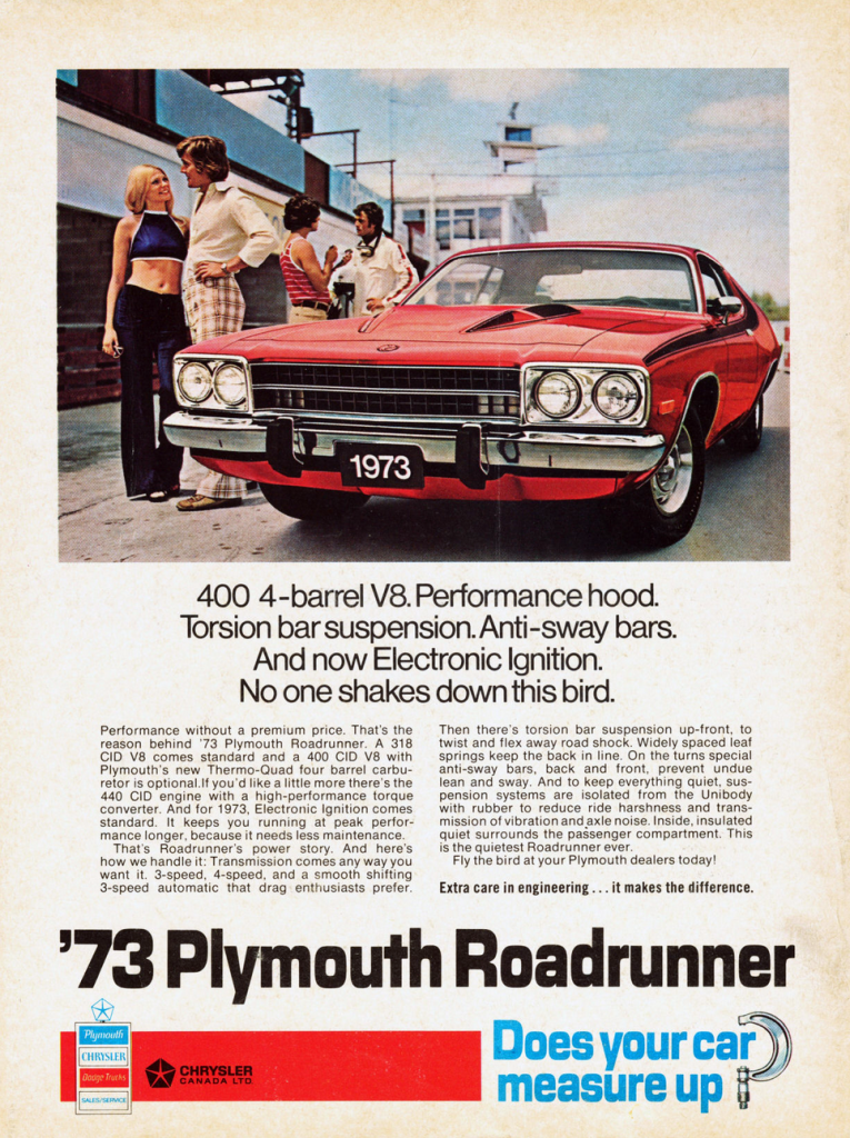 1973 Plymouth Road Runner Ad