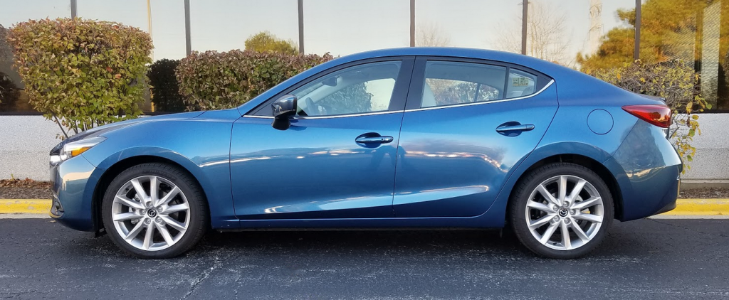 2017 Mazda 3 Sedan, Eternal Blue, Profile