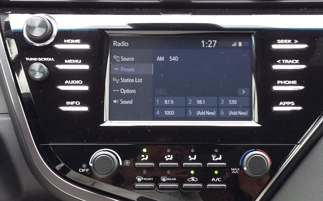 camry toyota system climate infotainment spin fashioned knobs ol adjust fairly buttons serve help easy