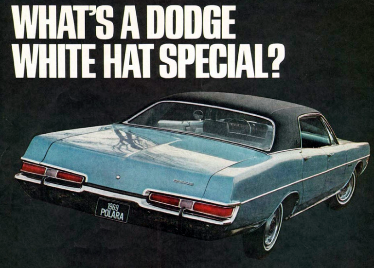 1969 Dodge White Hat Special, Spring-Special