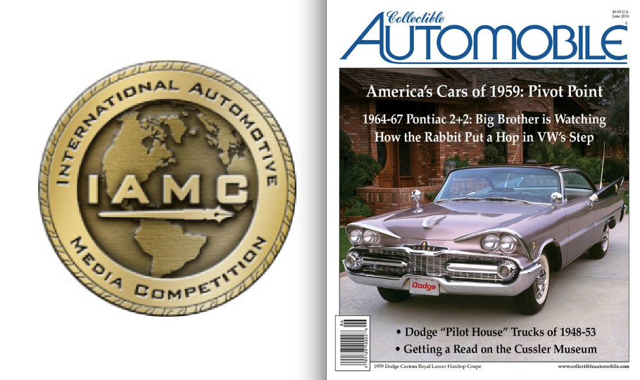Collectible Automobile Magazine, Awards, International Automotive Media Award Competition