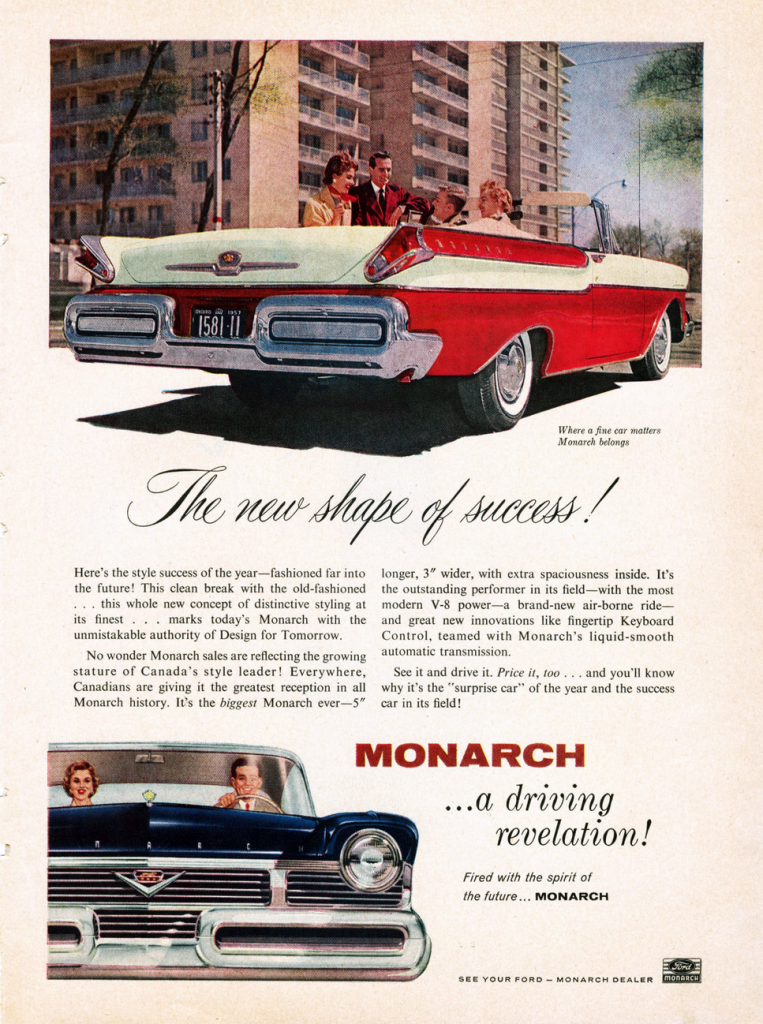 1957 Monarch Ad