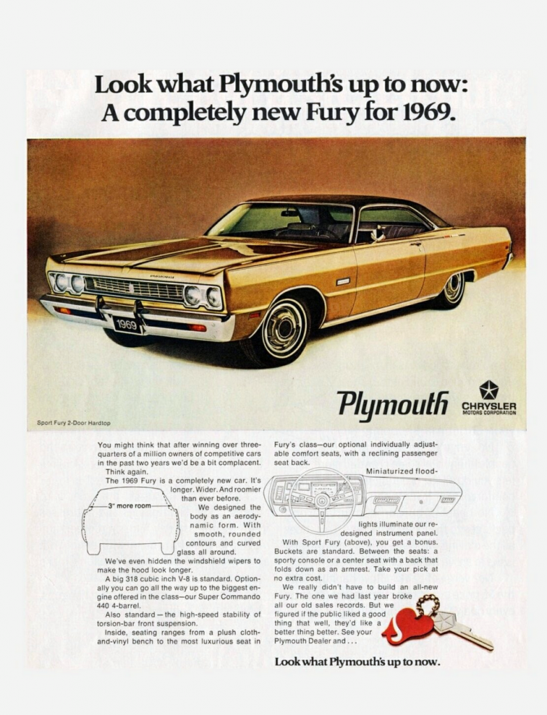 1969 Plymouth Fury Ad