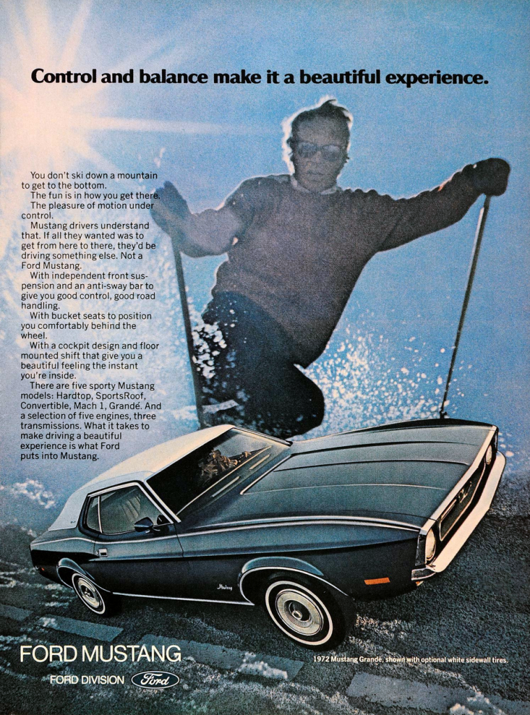 1972 Ford Mustang Ad