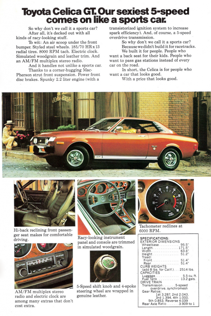 1976 Toyota Celica GT Ad