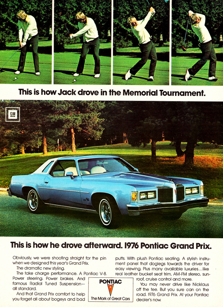 1976 Pontiac Grand Prix with Jack Nicklaus