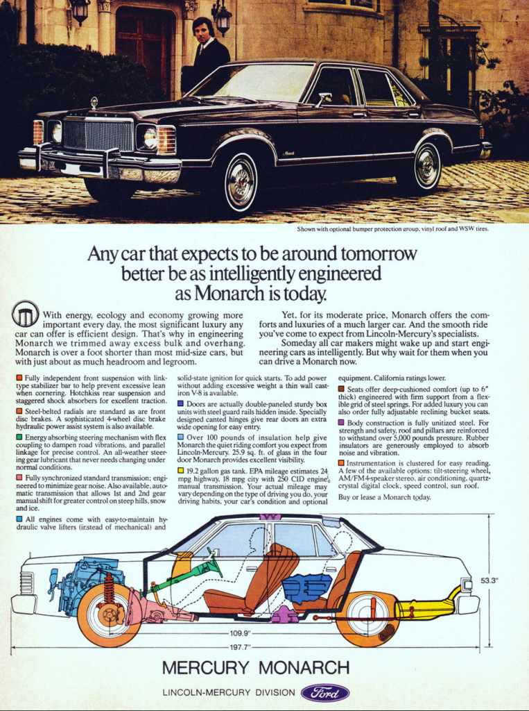 1976 Mercury Monarch Ad