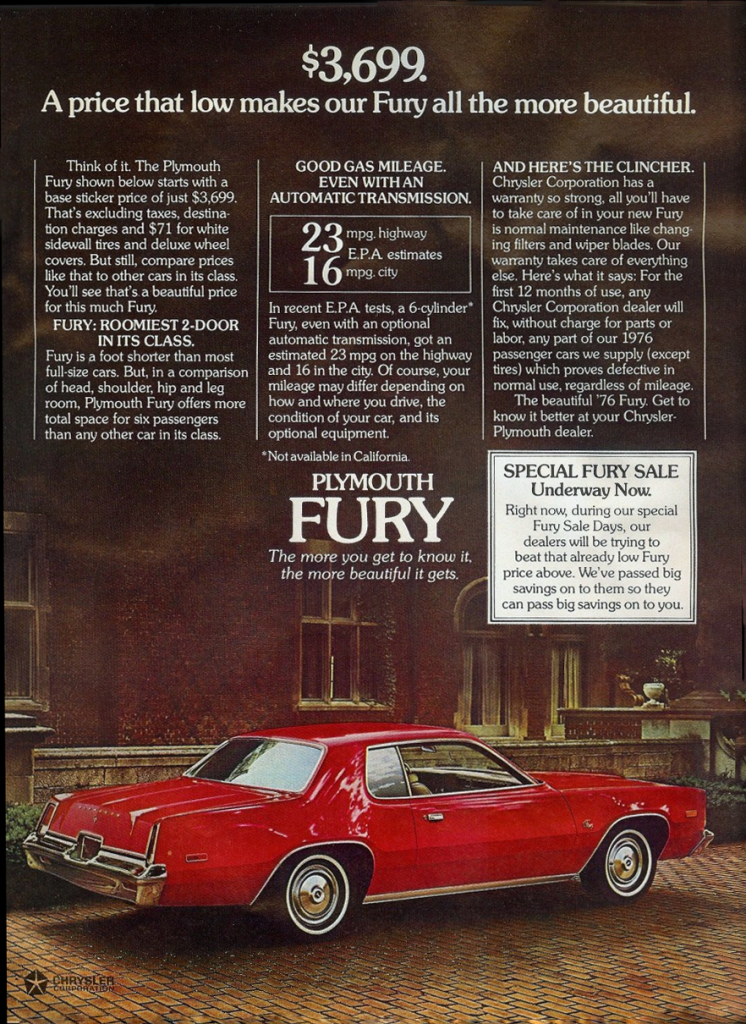 1976 Plymouth Fury