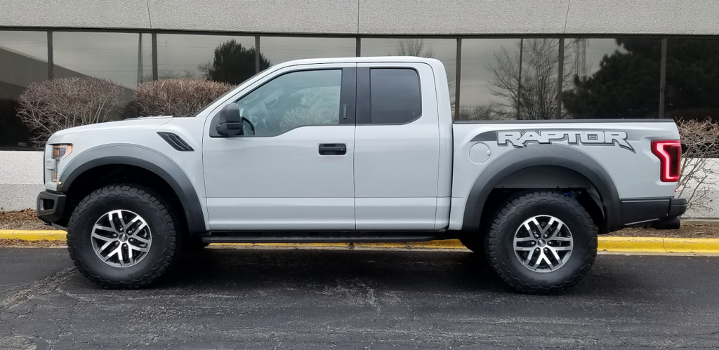 2017 Ford Raptor in Avalance Gray