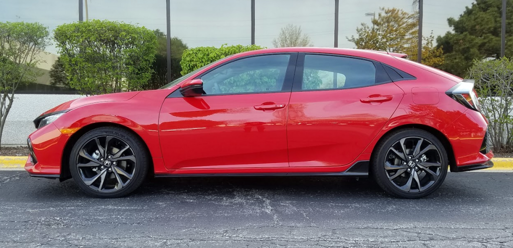 2017 Honda Civic Sport Touring in Rallye Red