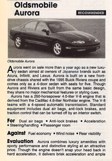 1995 Oldsmobile Aurora Review