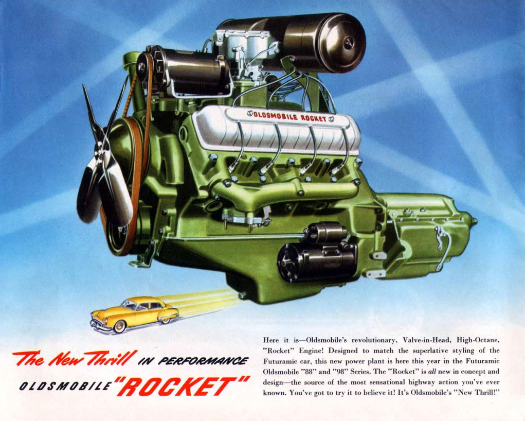 1949 Oldsmobile Rocket V8 Ad