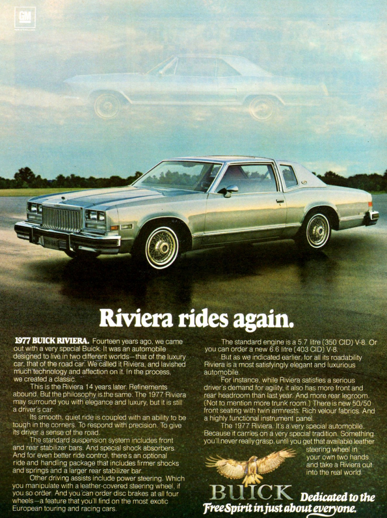 Model-Year Madness! 10 Classic Ads From 1977 | The Daily ...
