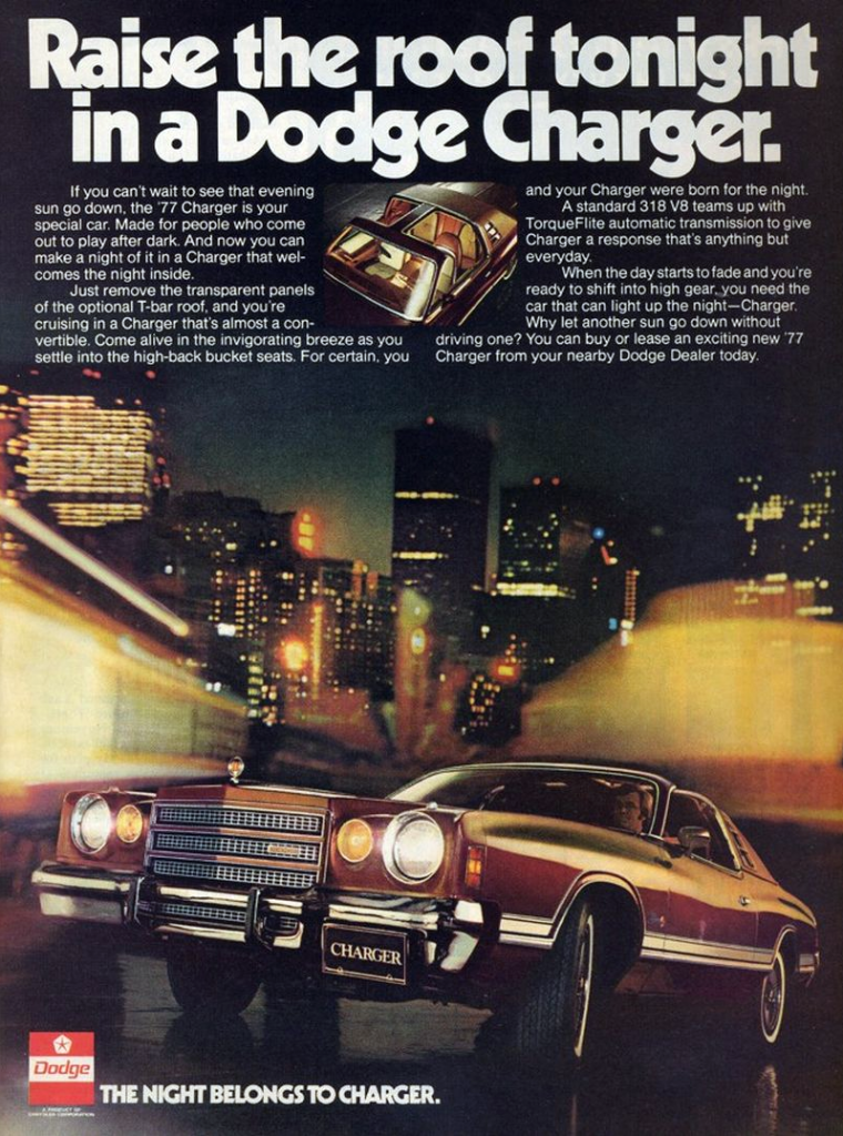 2017 Dodge Charger >> Model-Year Madness! 10 Classic Ads From 1977 | The Daily ...