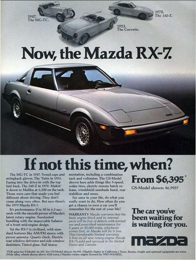 1979 Mazda RX-7 Ad