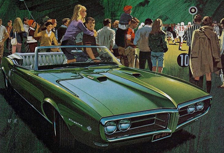 1968 Firebird, Art Fitzpatrick, Green Cars