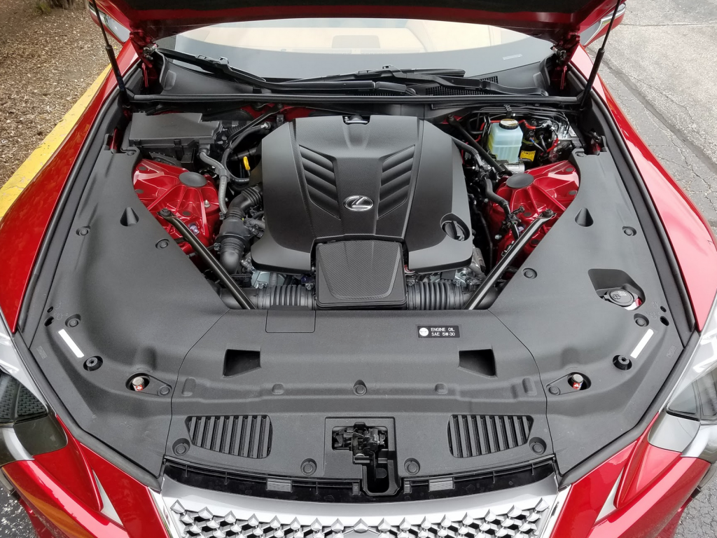 Lexus LC 500 engine bay