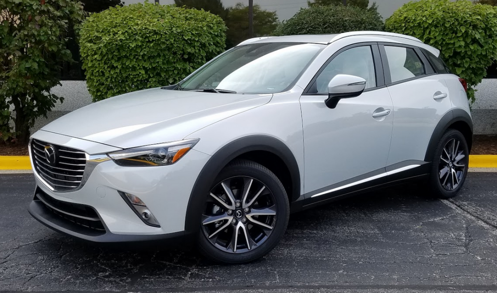 2018 Mazda CX-3 in Snowflake White Pearl Mica (a $200 color option)