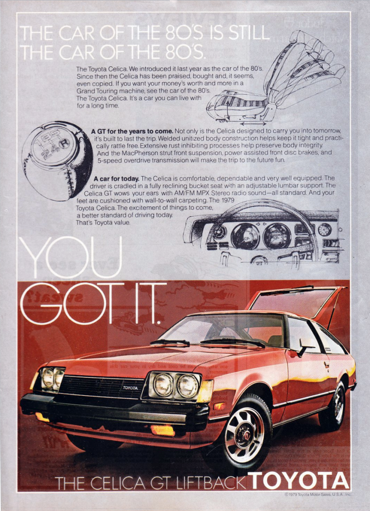 1979 Toyota Celica GT Ad