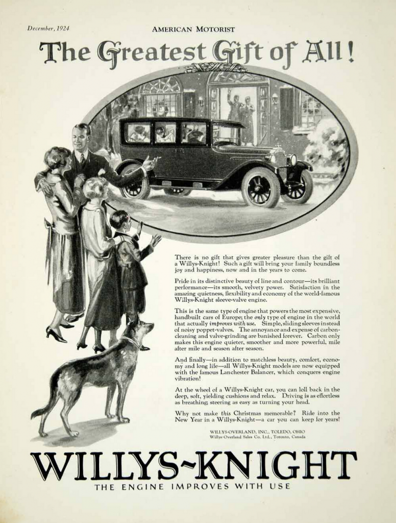 1924 Willys-Knight Ad, Dog