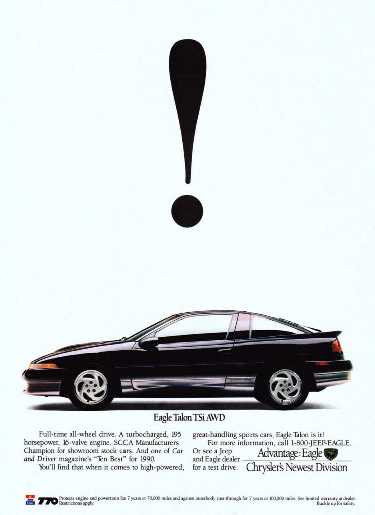 1990 Eagle Talon Ad