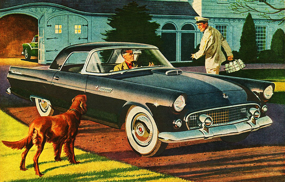 Canine Madness 10 Classic Car Ads Featuring Dogs The