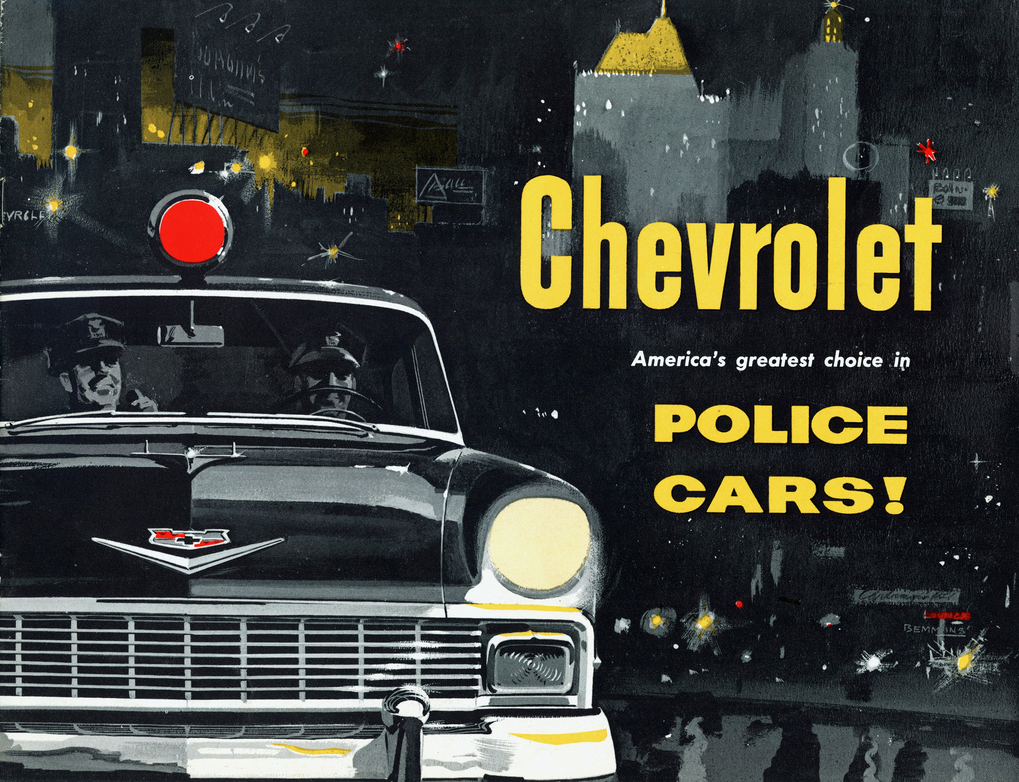 1956 Chevrolet Police Vehicle Brochure