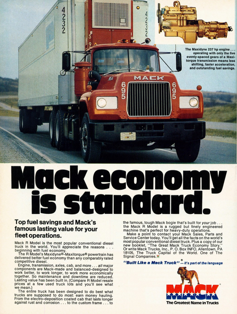 Pickup Truck Rental >> Bulldog Madness! 10 Classic Mack Truck Ads | The Daily Drive | Consumer Guide® The Daily Drive ...