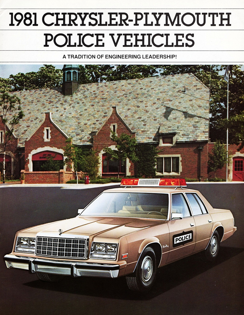 1981 Chrysler-Plymouth Police Vehicle Brochure