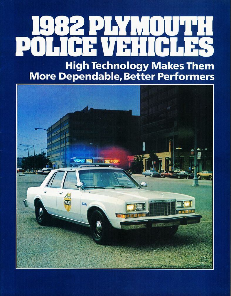 1982 Plymouth Police Vehicle Brochure