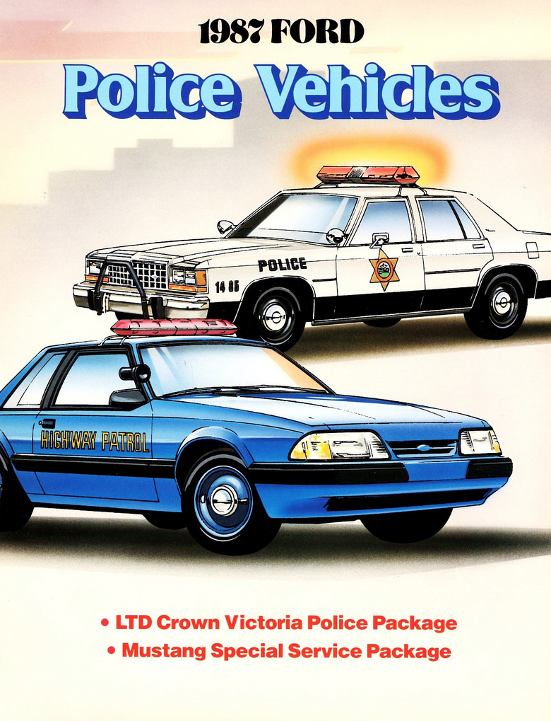 1987 Ford Police Vehicle Brochure