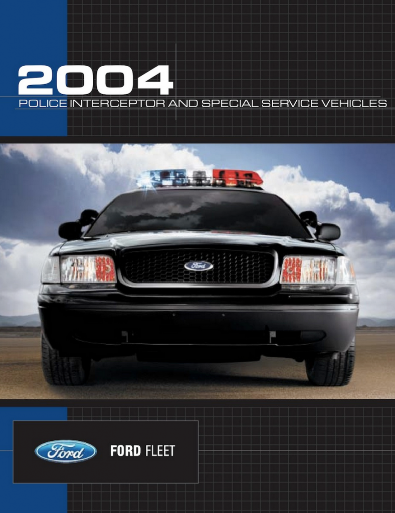 2004 Ford Police Vehicle Brochure