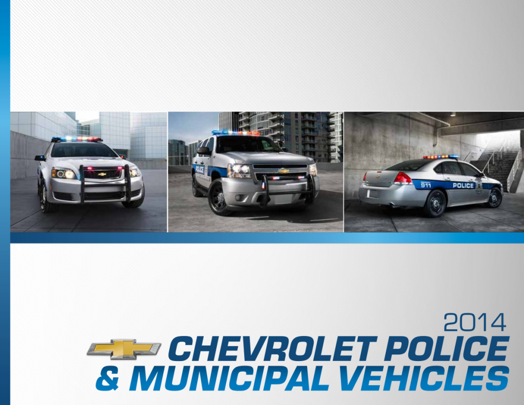 2014 Chevrolet Police Vehicle Brochure