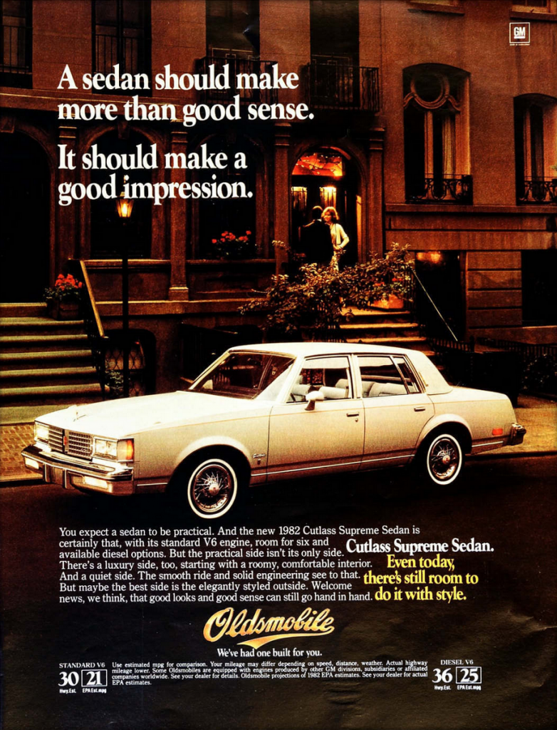 Oldsmobile Cutlass Supreme Ad