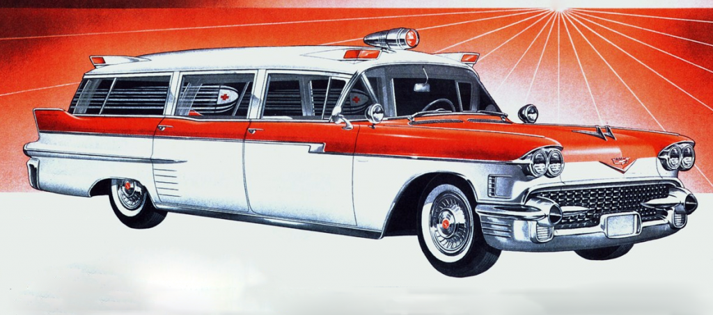 1958 Cadillac ambulance conversion by Miller-Meteor