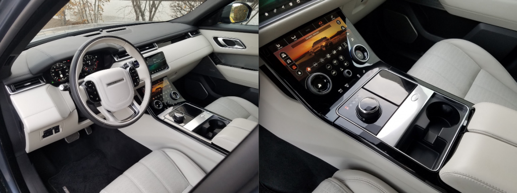 Velar Interior, Byron Blue, Ebony Windsor