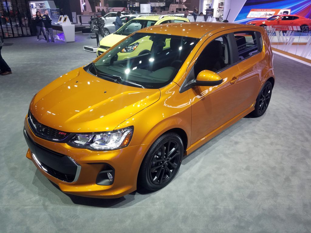 2018 Chevrolet Sonic in Orange Burst Metallic