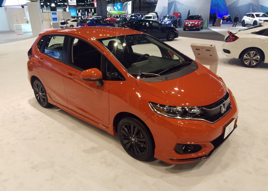 2018 Honda Fit in Orange Fury