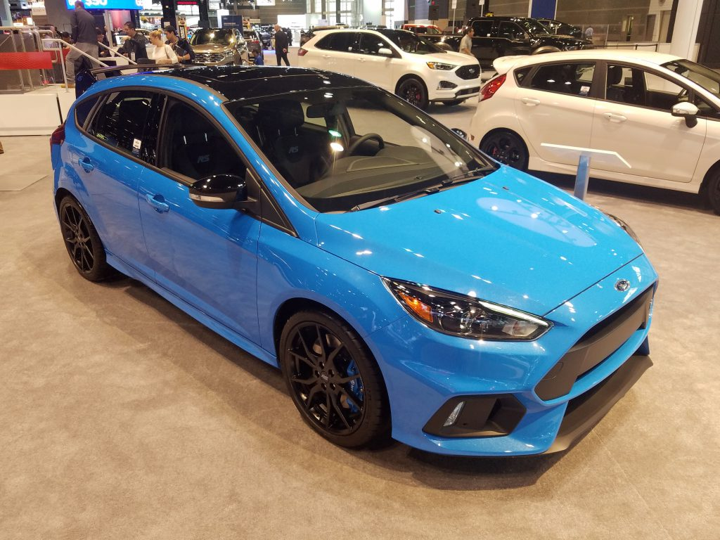 2018 Ford Focus RS in Nitrous Blue Quad-Coat Metallic